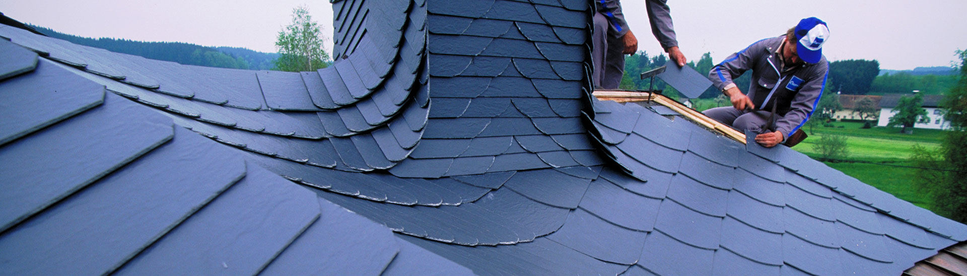 Dach aus Eternit