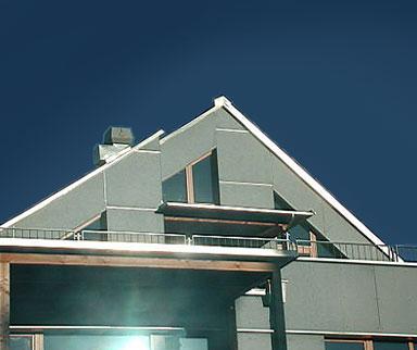 Dach aus Zinkblech