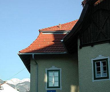 Dach aus Tonziegel
