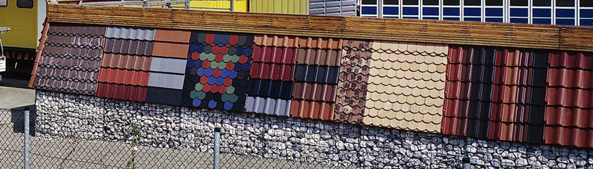 Baustoffe für Dach und Wand